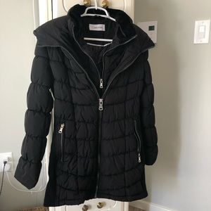 CK Calvin Klein Black Puffer Double Layer Coat M